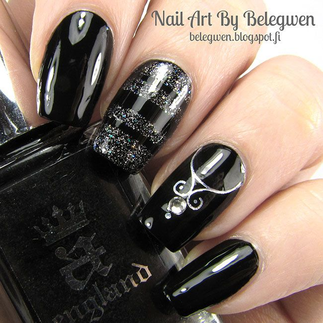 Nail Art By Belegwen: A England Camelot and Essence Headphones On!