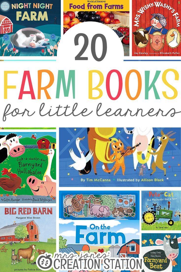 20 farm books for little learners mrs jones creation
