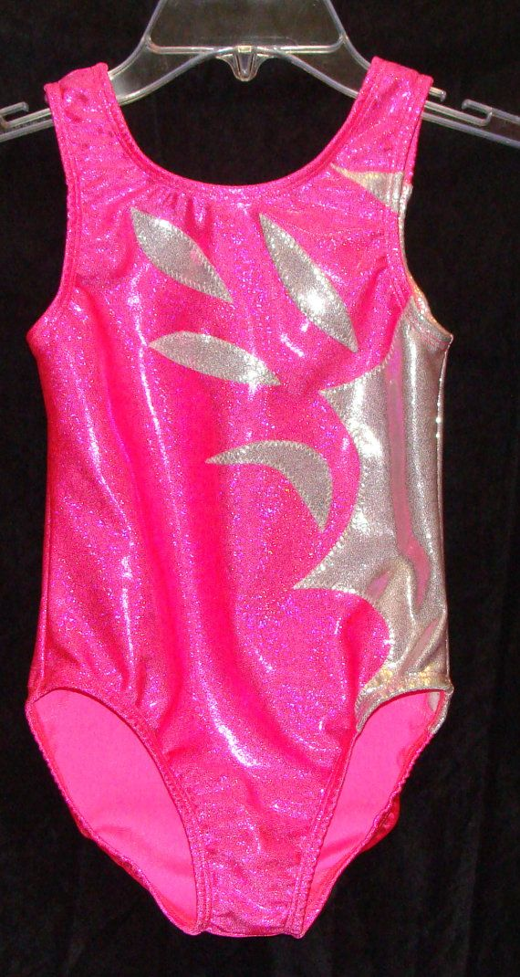 Gymnastics Leotard Girls Pink And White Twinkle One By Cathykelly2