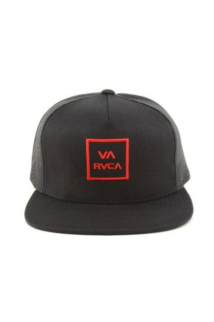 a57f79529d595 ... good rvca clothing va all the way trucker hat black red 24.00 5e812  97fba
