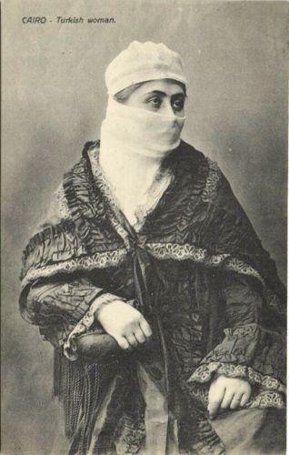 Egypt Cairo Turkish Woman Niqab 1910s