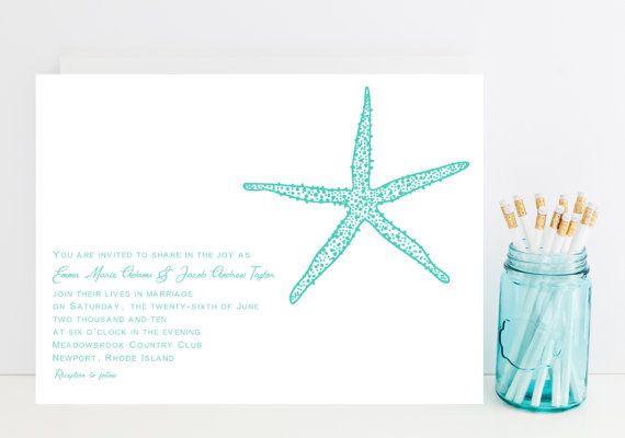 starfish wedding invitation sample livi says i do pinterest