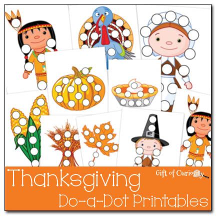 Thanksgiving Do-a-Dot Printables | Pilares, Imprimibles y Escuela