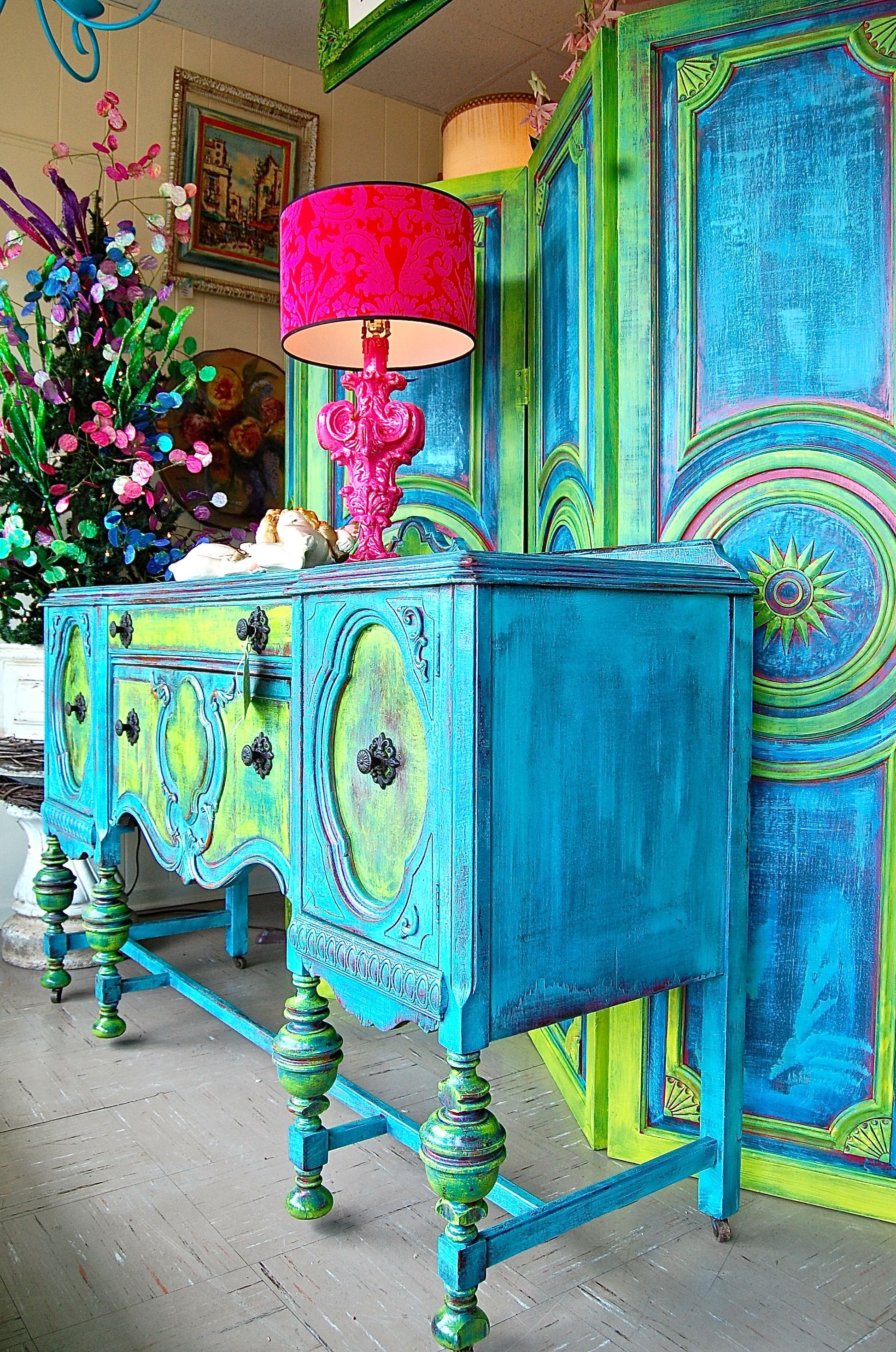 LOVE!LOVE!LOVE! French Funky Sideboard, four panel room divider ...