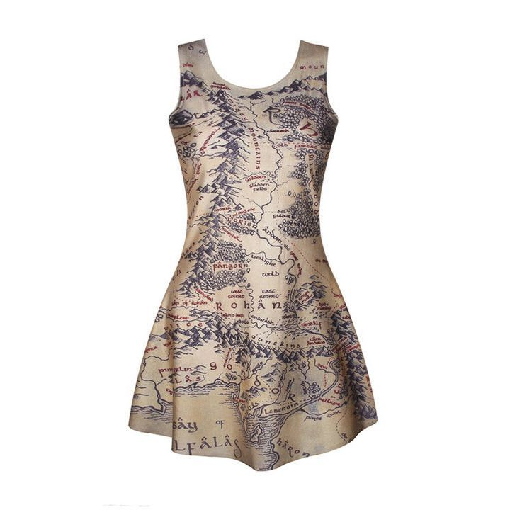 SexeMara New 2016 Starry Sky Nebula Dress Casual Fashion Sleeveless Printed Vestidos Breathable Fitness Women Sundress F1481