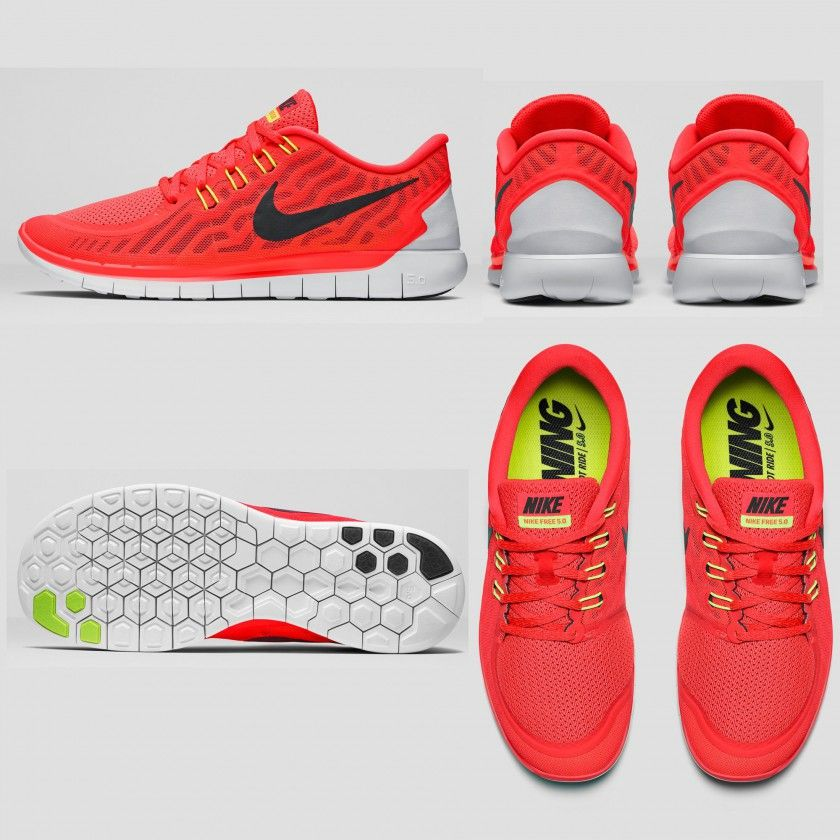 Nike Free 5.0 Laufschuh Herren seite, sohle, hinten, oben