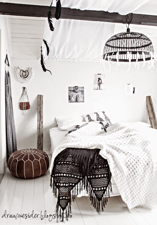 Best B O H O Bedroom Elin Sine Draumesider ♥ Bedrooms Boho And Monochrome Bedroom 400 x 300