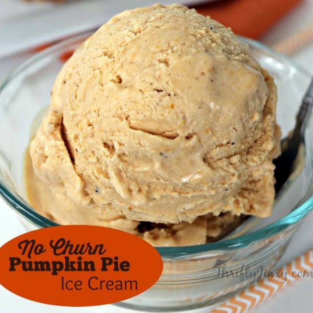 No Churn Pumpkin Pie Ice Cream Recipe | Yummly #cheesecakeicecream