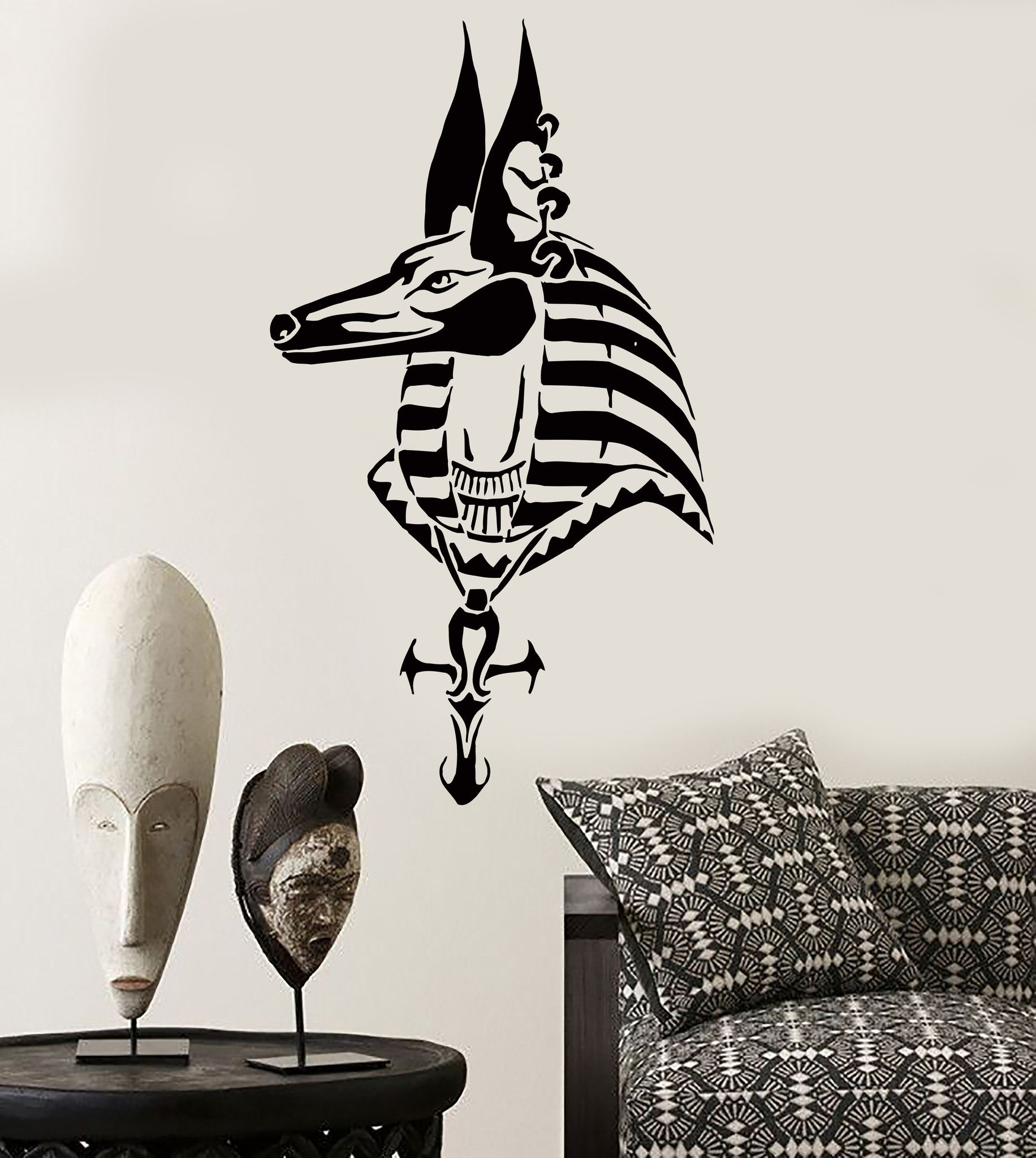 Wall Sticker Anubis Egypt Egyptian Mythology Decor For Bedroom Z2518