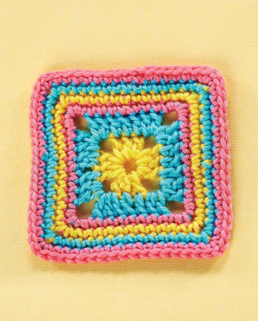 Simple granny square | crochet patterns | Pinterest | Cuadrados de ...