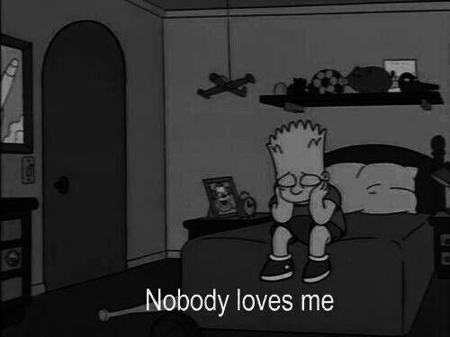 love, sad, and simpsons image | - * Saying * | Pinterest