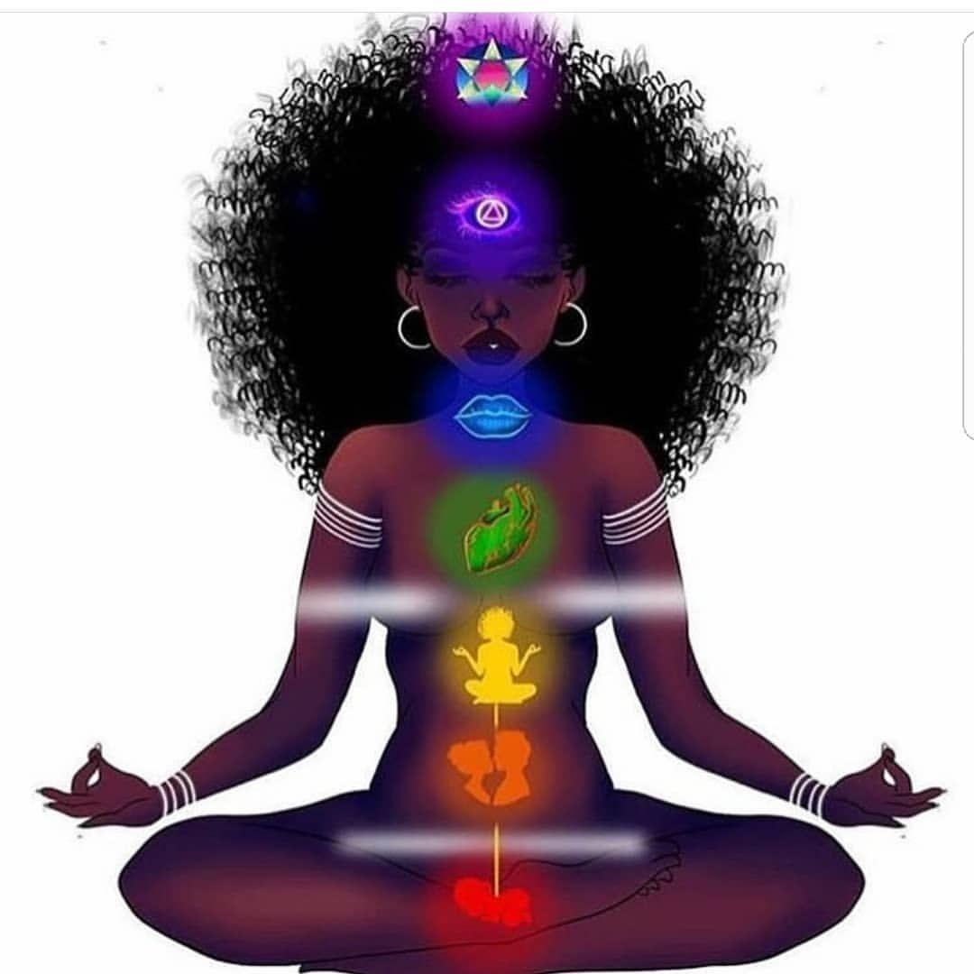By @kemeticscience | Black girl art, Chakra art
