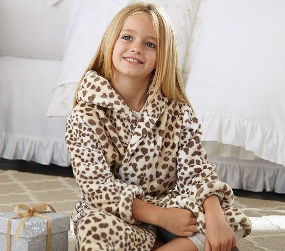 Animal Print Robes Pottery Barn Kids Winter Snuggle
