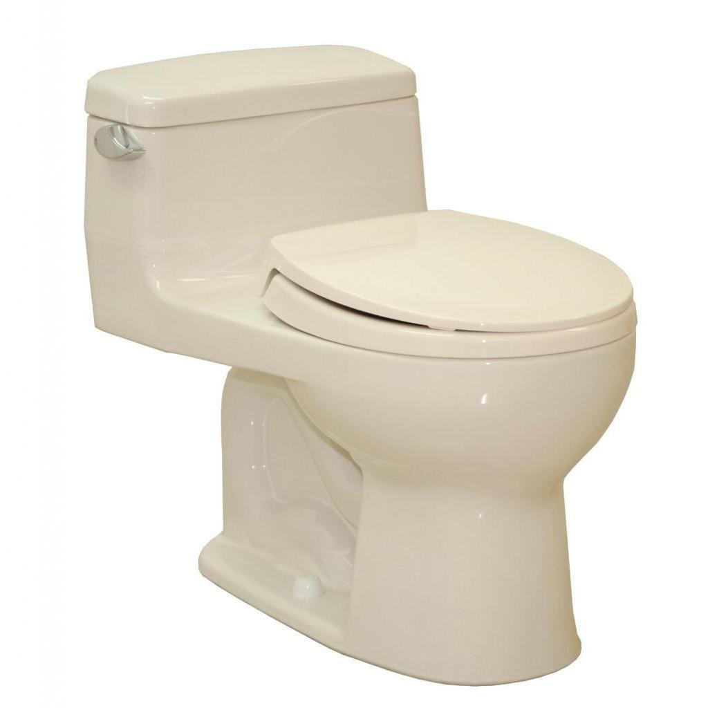 Toto Eco Supreme Round 1-piece Toilet Bone (Bone), Beige Off-White ...