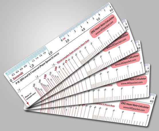 Ekg Heart Rate Calculator Ruler Nurse Heart Rate Nursing