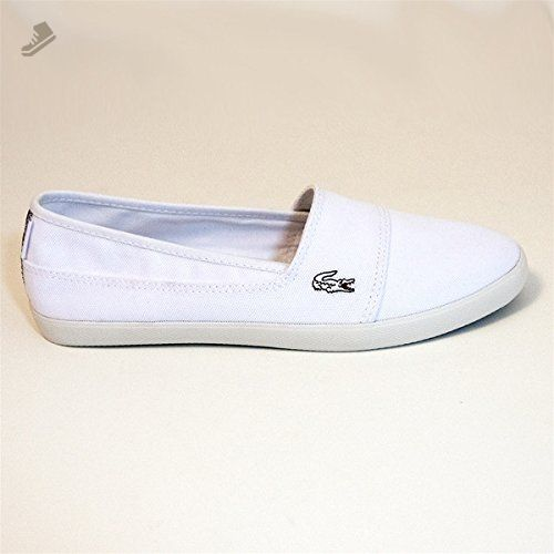 371c76a75688e Lacoste Womens Canvas Shoes Marice CAM Slip On White Sneakers 6 B(M ...