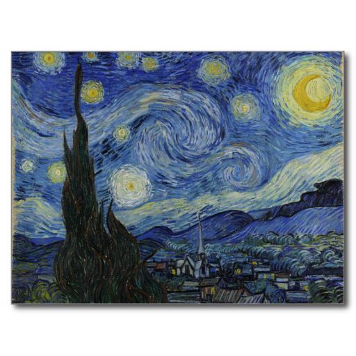 Starry Night By Vincent Van Gogh Postcard Zazzle Com Starry Night Van Gogh Gogh The Starry Night Van Gogh Art