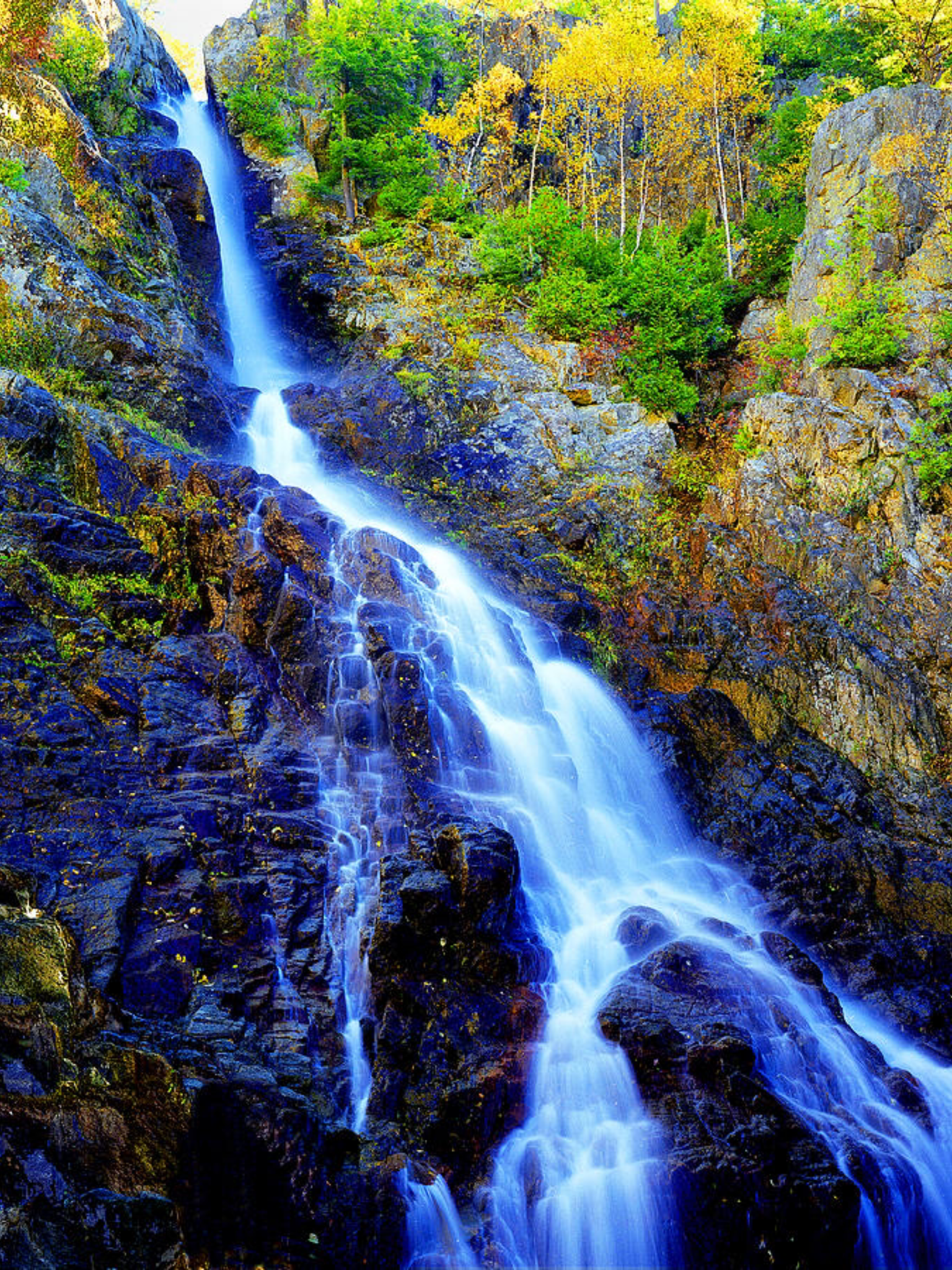 Roaring Brook Falls is a photograph by Frank Houck