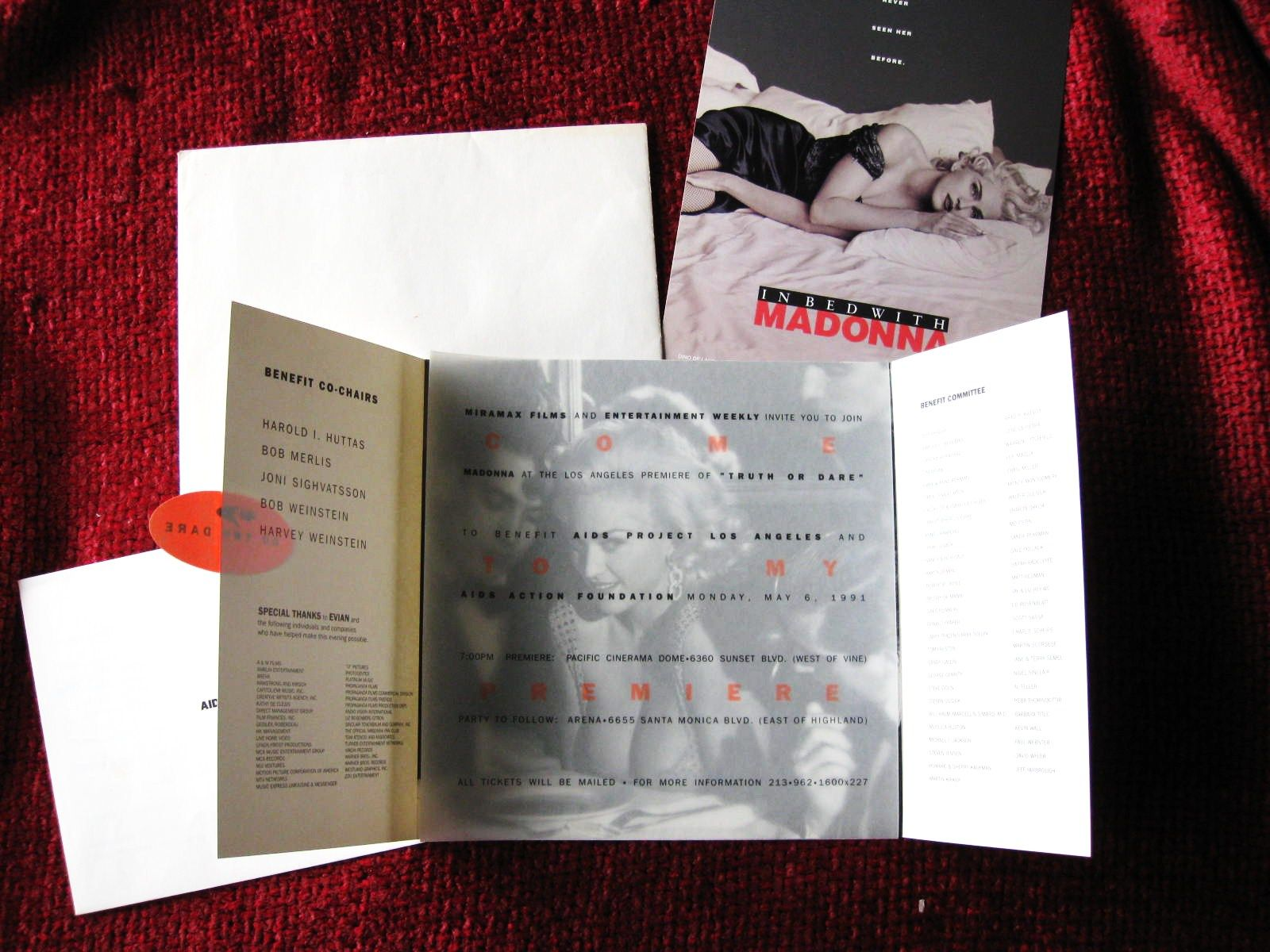 how to make film canister wedding invitations%0A Madonna Truth or Dare Promo Screening Invite