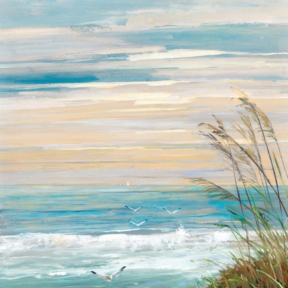 Beach At Dusk Wall Art Canvas Prints Framed Prints Wall Peels