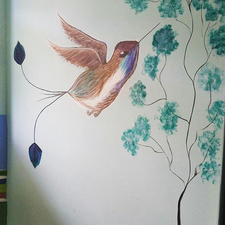 pintando #dibujo #paredes #viajando #colibricoladeespatula #drawing ...