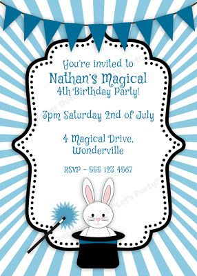 magical birthday party invitation magic party pinterest party