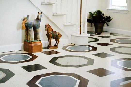 Painted floors #marblepainting