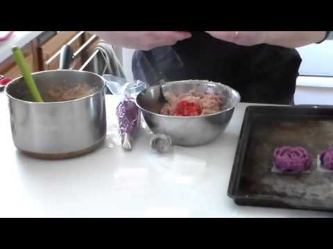 How to make bean paste for piping the Korean style cake flowers - YouTube