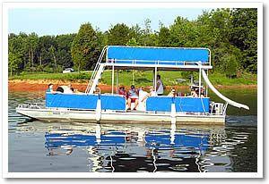 Patoka Lake Marina Lodging In Indiana Boat Rental Lake Vacation Pontoon Boat With Slide