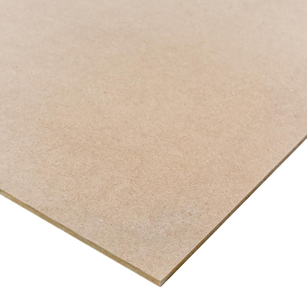 Medium Density Fiberboard Common 1 4 In X 2 Ft X 4 Ft Actual 0 216 In X 23 75 In X 47 75 In 354221 The Painting Shelves Fiberboard Project Panels