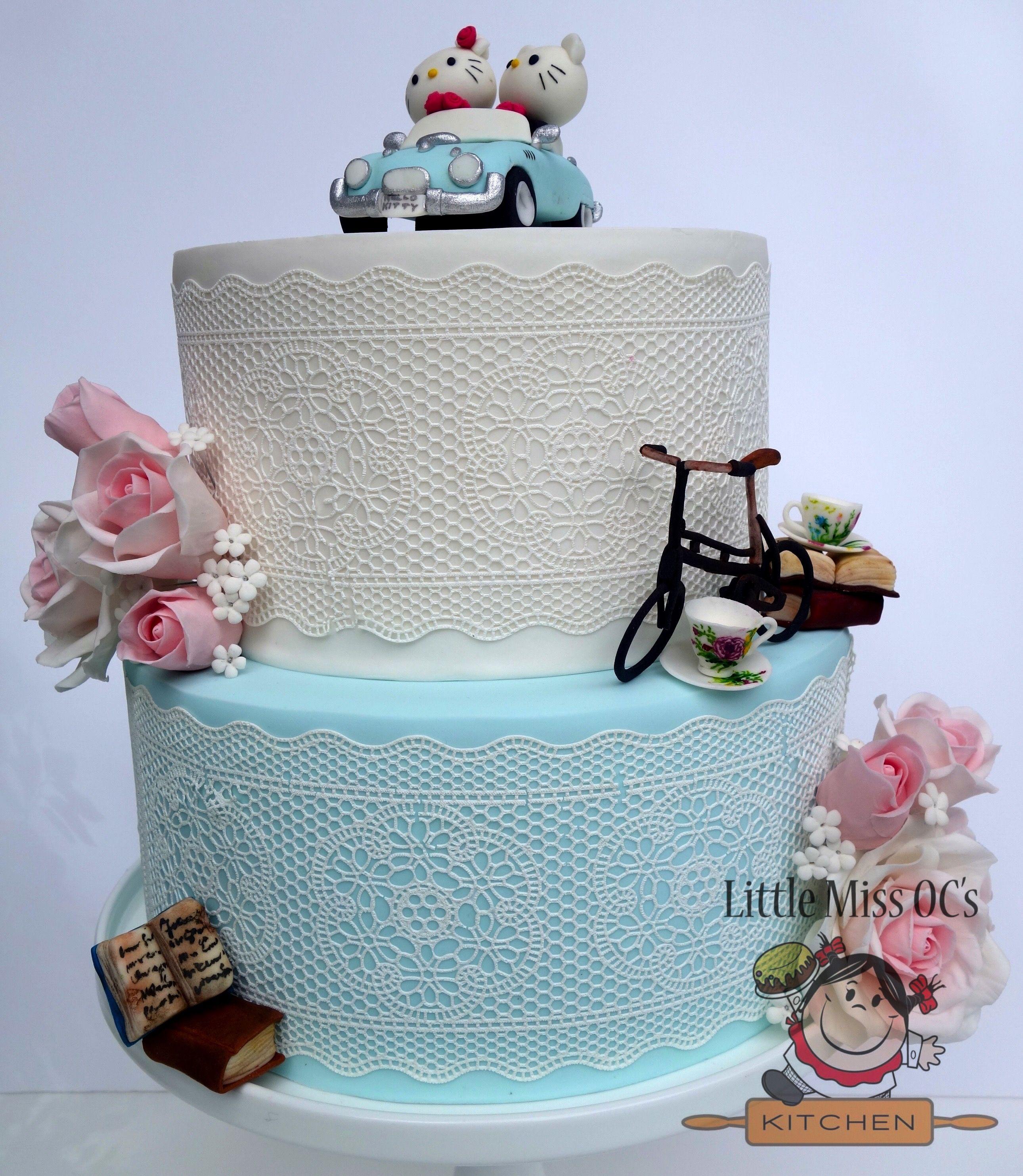 Vintage Hello Kitty Wedding Cake