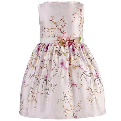 Lesy - Robe habillée en satin imprimé fleurs - 115504