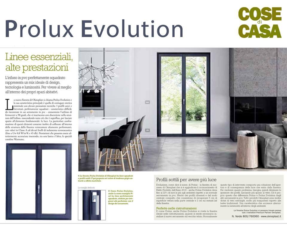 Linee essenziali e alte prestazioni. Appena arrivata, Prolux Evolution fa già parlare di sè!  Dall'ultimo numero di Cose di Casa:  http://www.atresliving.it/prolux-evolution-finestra-in-pvc/