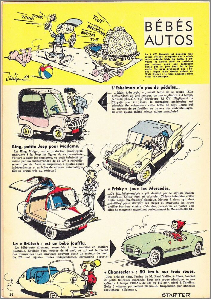 1958 Document Ref Ips 1050 Auto Eshelman Frisky Brutsch King Midget King Midget Auto Midget