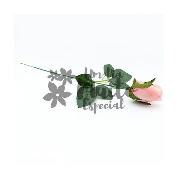 Rosa de Veludo Artificial Rosa Claro 10
