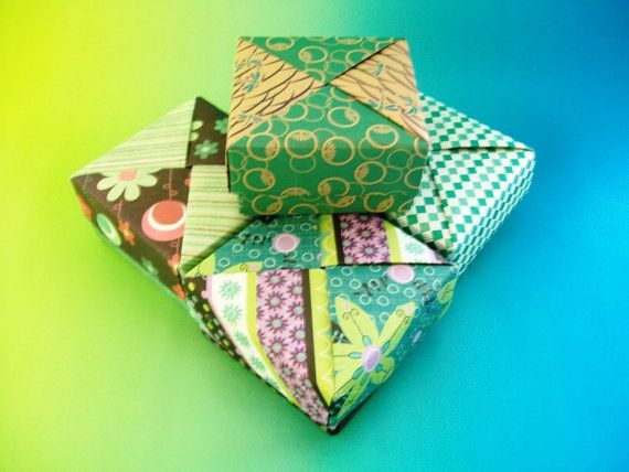 4 Origami Boxes Gift Boxes Decorative Boxes Party Favor Boxes