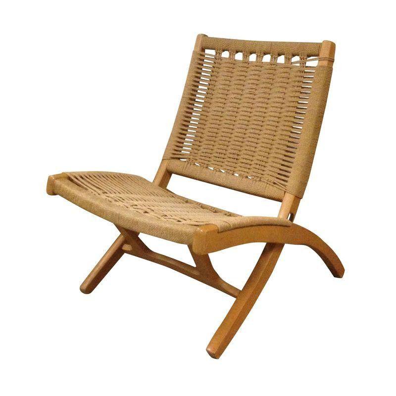 Mid Century Jute Folding Chair 450 Est Retail 400 On Chairish