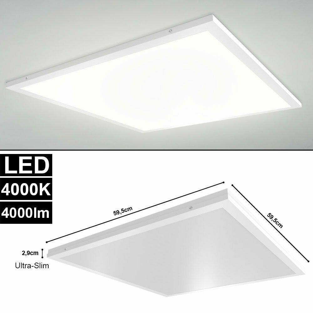 40w Led Decken Einbau Aufbau Aufputz Panel Leuchte Buro Hallen Kuchen Lampe Slim In 2020 Led Strahler Led Beleuchtung Wohnzimmer