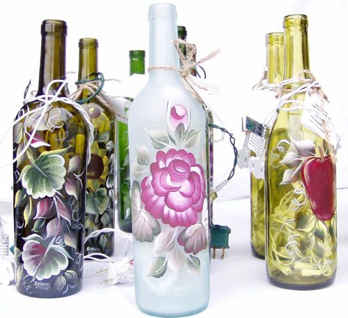 Glass Bottle Decoration Winebottlecraftswithlights  We Use Glass Bottles For Almost