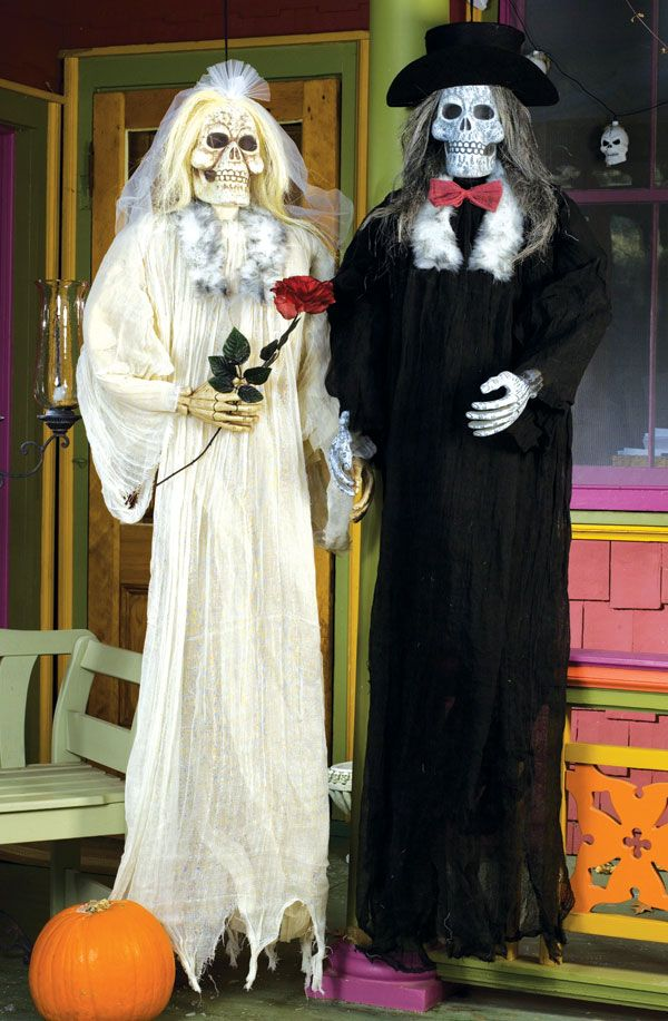 Image detail for -Bride and Groom Props Day of the Dead Decorations Halloween Costumes ...