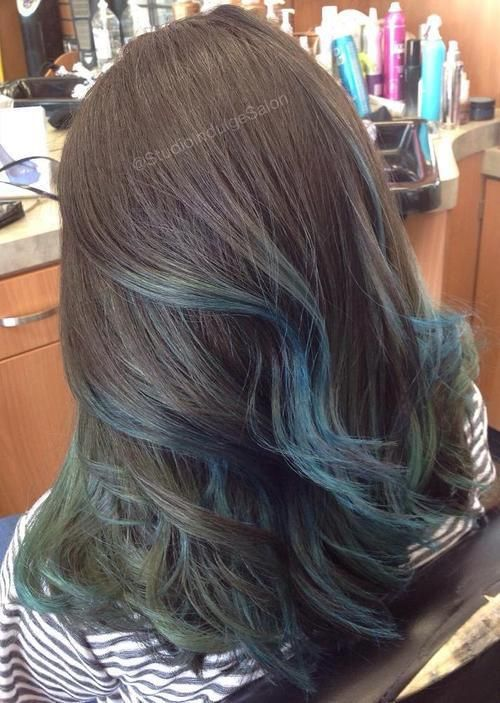 Gimme The Blues Bold Blue Highlight Hairstyles Hair Highlights