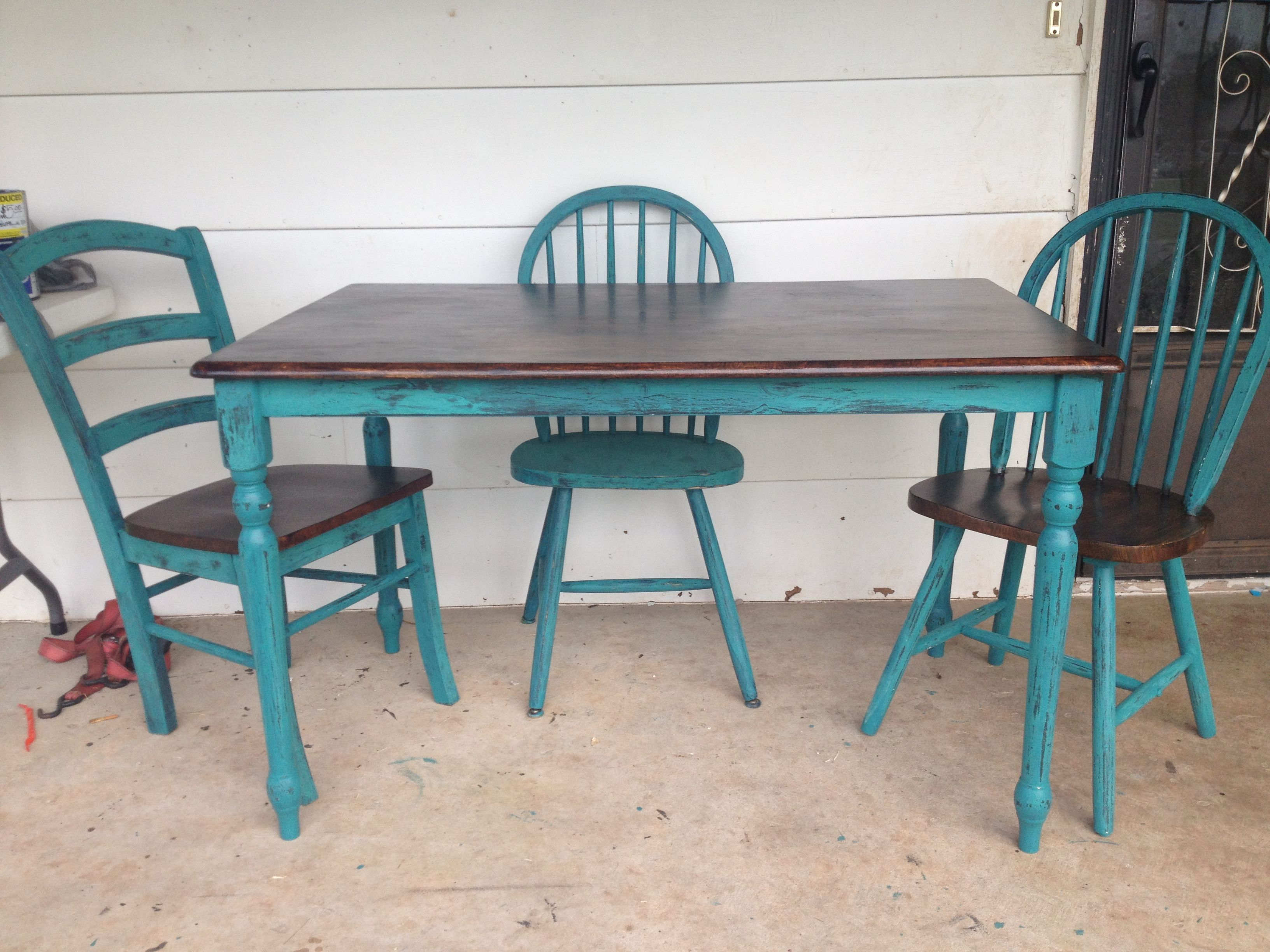 In love with my kitchen table I just redone today!!! | crafts in ...
