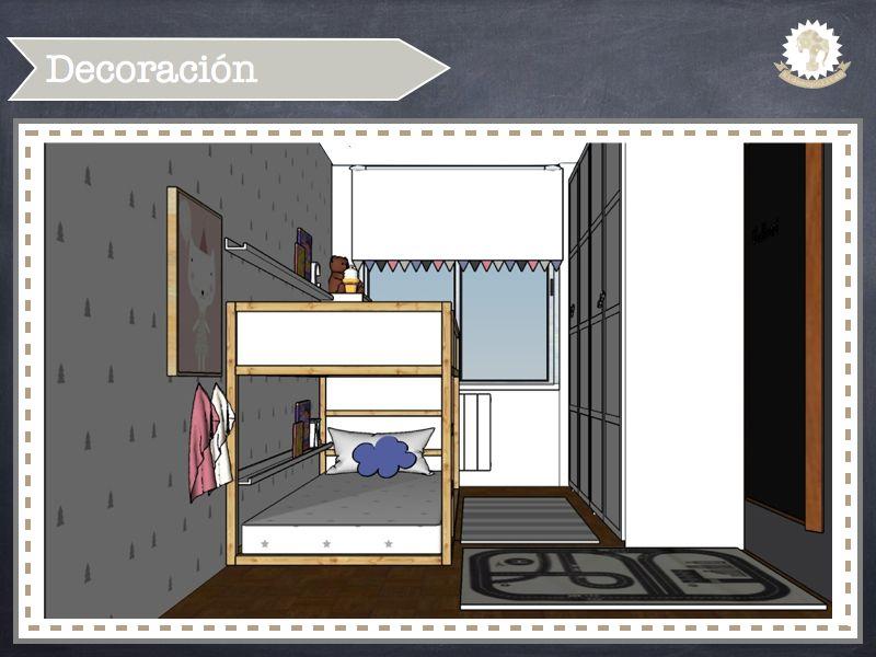 Dormitorio compartido por dos hermanos de estilo nórdico en tonos neutros y detalles en rosa y azul. http://kidsmopolitan.com/habitacion-pequena-compartida-por-un-nino-y-una-nina/ #kidsroom #habitacióninfantil #sharedroom #habitacióncompartida #kidsmopolitan #decokids #kidshome