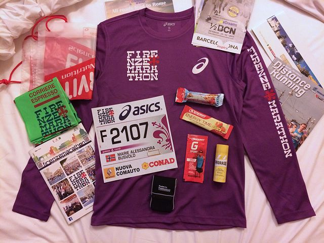 e68c1a2495be Firenze Marathon goodie bag