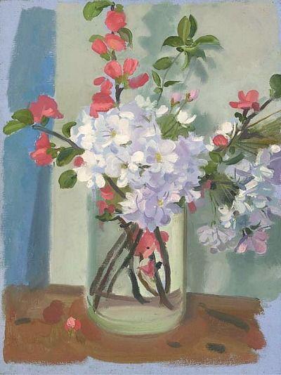 'Still life with Apple Blossom' by Paul Wyeth