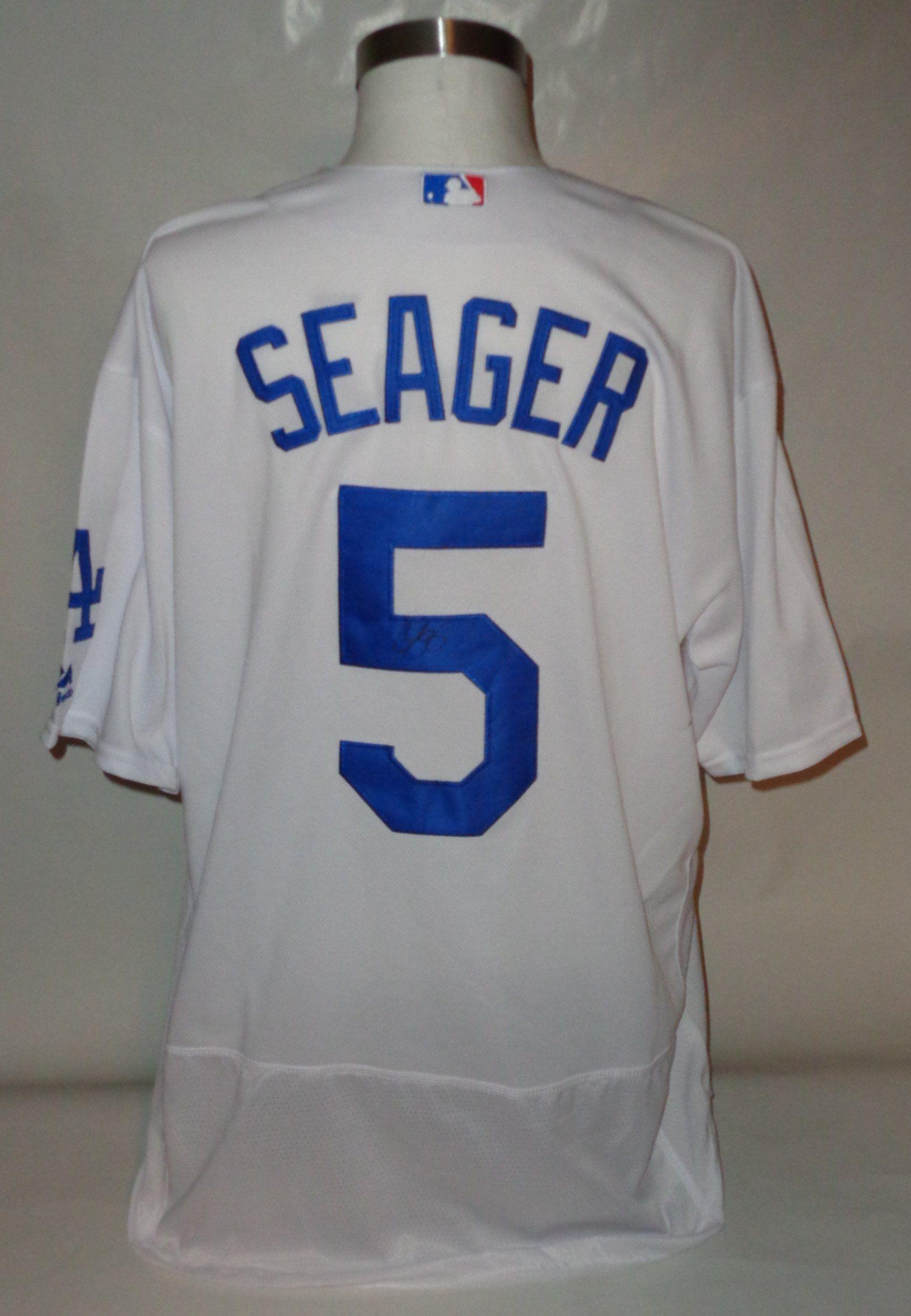 f7b2bedd6cc Corey Seager DODGERS autograph jersey COA Memorabilia Lane & Promotions