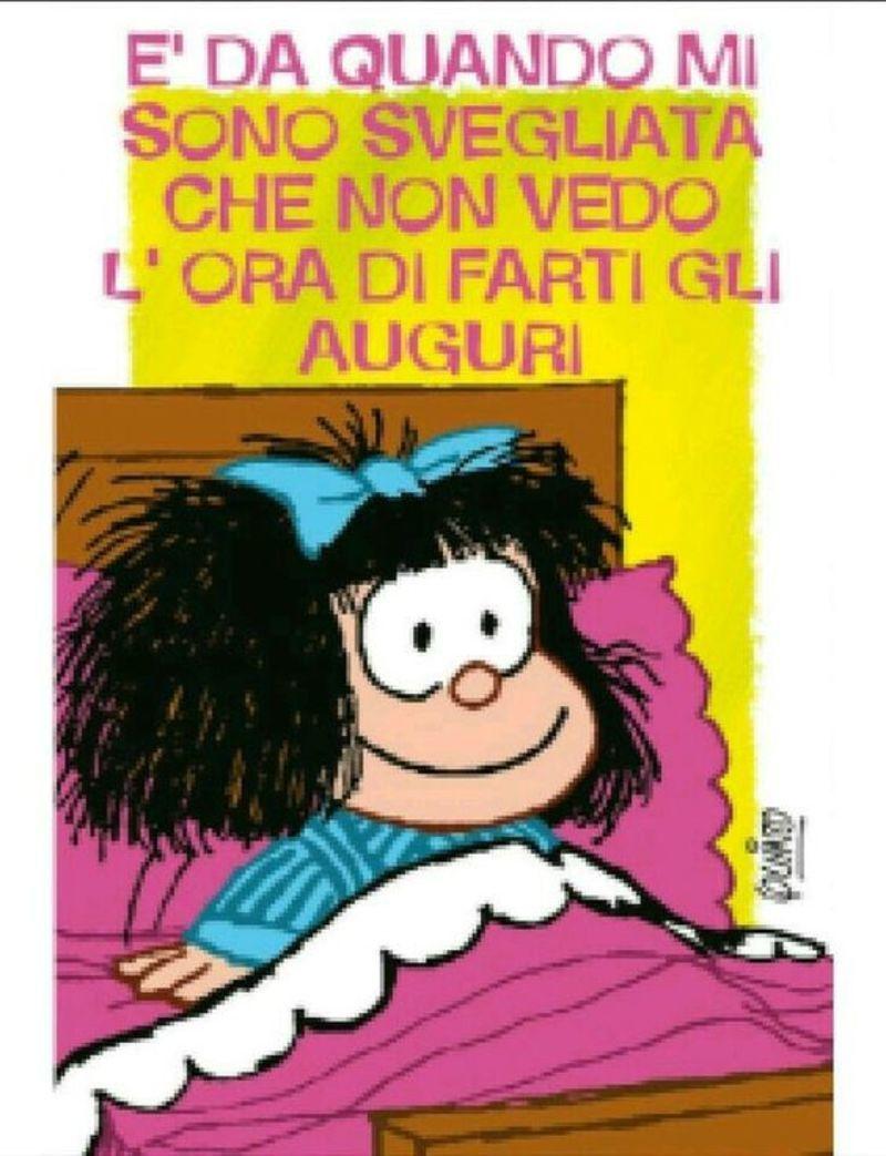 Buon Compleanno da mandare alle amiche con Mafalda | Buon