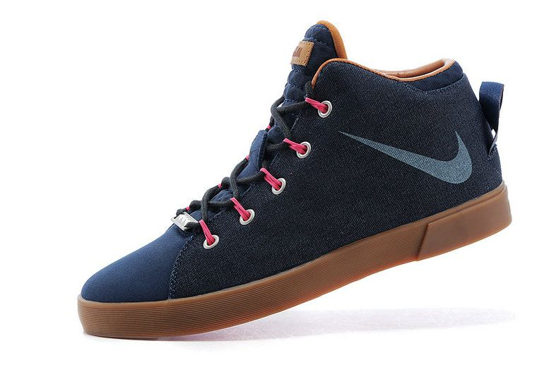 934dd0853dbbea 2015 Latest Nike LeBron 12 (XII) NSW Lifestyle High-Tops Casual Shoes Denim  Blue