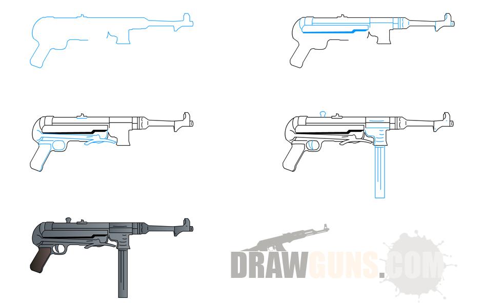 How to Draw Guns Drawing Guns Pinterest Guns