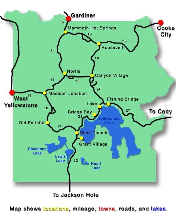 Yellowstone Map Leaving Yellowstone Pinterest Yellowstone - Yellowstone map